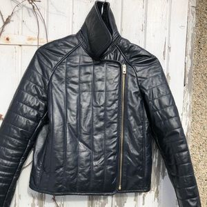 Rag and Bone Quilted Leather Moto Jacket 2 Coat